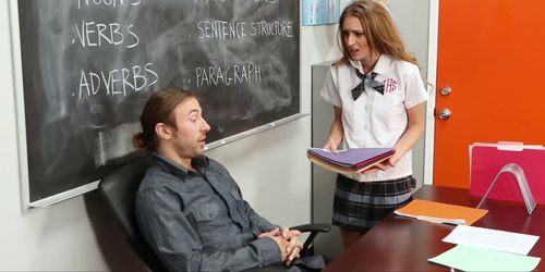 Schoolgirl Maci Winslett Fucks For The Grade!